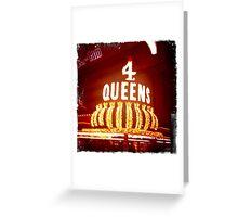 Four Queens Casino, Downtown Las Vegas Greeting Card