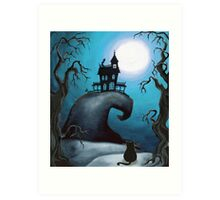 Haunted Mansion on Old Witch Hill  Art Print