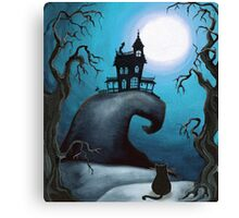 Haunted Mansion on Old Witch Hill  Canvas Print