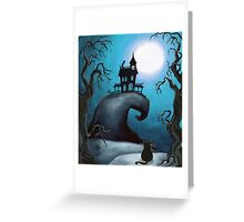Haunted Mansion on Old Witch Hill  Greeting Card