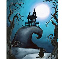Haunted Mansion on Old Witch Hill  Photographic Print