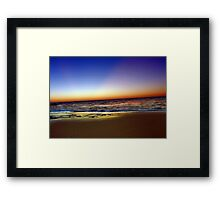 Beach At Dusk - South of Western Australia Framed Print