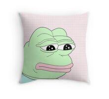 aesthetic pepe Throw Pillow