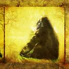 Gorilla Triptych (Views: 1807) by Rhonda Strickland