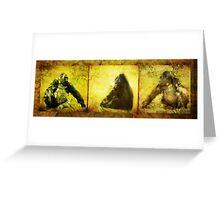 Gorilla Triptych (Views: 1807) Greeting Card