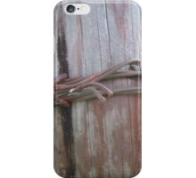 Wooden Barbed Wire  iPhone Case/Skin