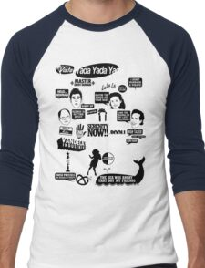 Seinfeld Quotes Men's Baseball ¾ T-Shirt