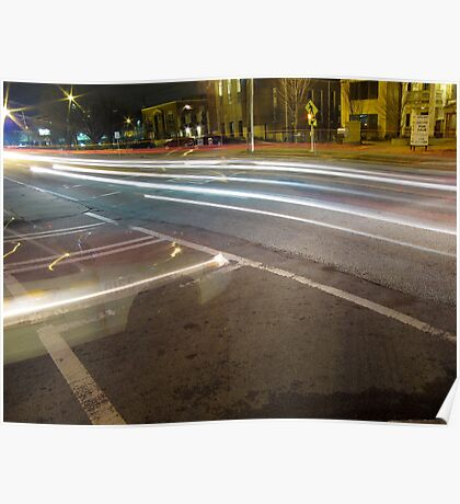 Ghost Taxi and Other Light Trails Poster