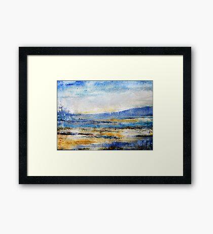 Swamp Blue Framed Print