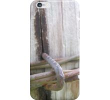 Barbed Wire Fence Post iPhone Case/Skin