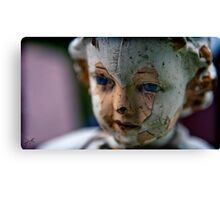 eyes of the saint Canvas Print