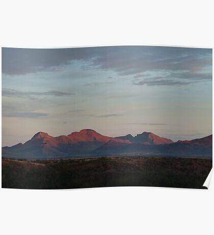 Desert Mountain Morning Poster