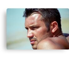 Contemplation on a Handsome Face Canvas Print