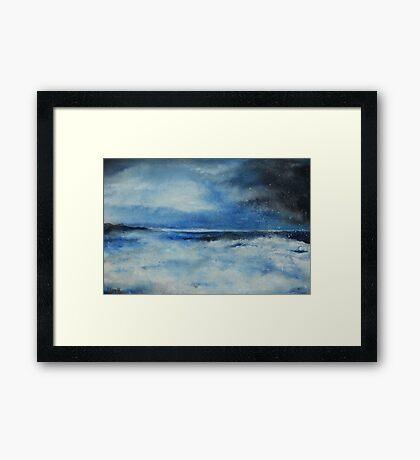 Cerulean Storm Framed Print