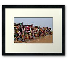 The Underside ~ Cadillac Ranch Framed Print
