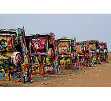 The Underside ~ Cadillac Ranch Photographic Print