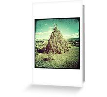Natural Teepee At The Grand Canyon Greeting Card