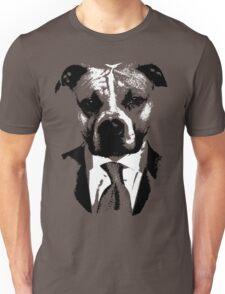 Dog in Black Unisex T-Shirt