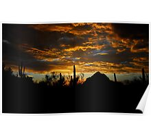 An Arizona Desert Sunset  Poster