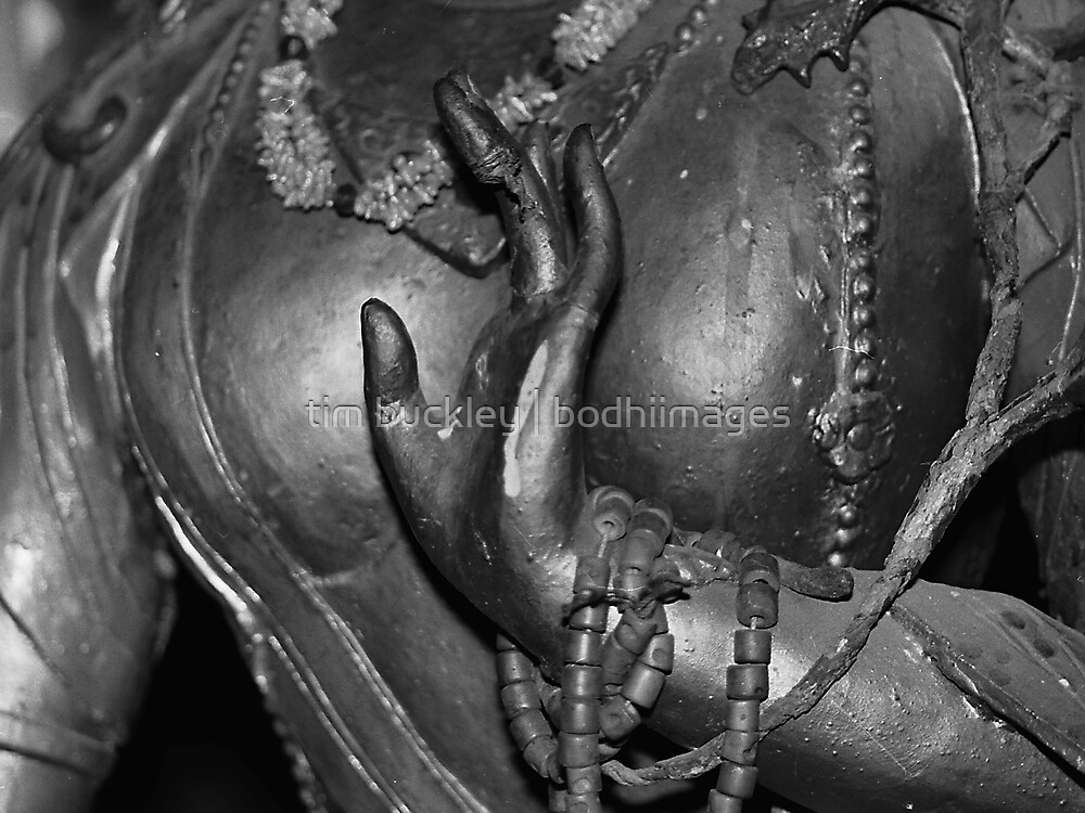 detail. buddhist statue, northern india by tim buckley | bodhiimages