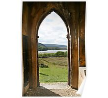 Old Church Dunlewey Donegal Ireland - view from door Poster