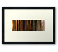Moviebarcode: Fantastic Mr. Fox (2009) Framed Print