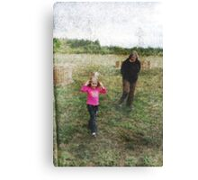 Auntie And The Butterfly Girl Canvas Print