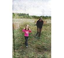 Auntie And The Butterfly Girl Photographic Print