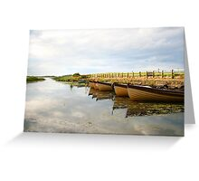 Boats on New Lake Dunfanaghy Donegal Ireland Greeting Card