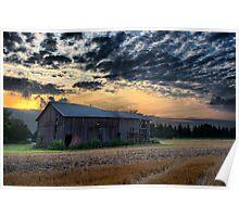 Rural Horizon at Sunset Poster