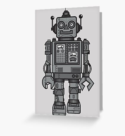 Vintage Robot Greeting Card
