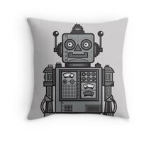 Vintage Robot Throw Pillow