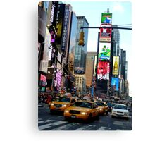 Cabs in Times Square Canvas Print