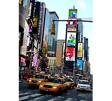Cabs in Times Square Photographic Print