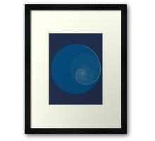 Golden Ratio Circles + Spiral Framed Print