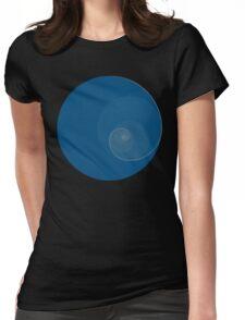 Golden Ratio Circles + Spiral Womens Fitted T-Shirt