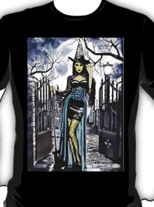 Sexy Halloween witch clipart horror spooky oil painting  T-Shirt