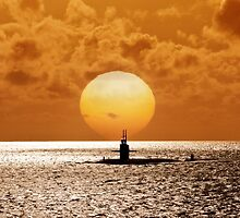 Sunset At Pearl Harbor  by Alex Preiss