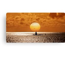 Sunset At Pearl Harbor  Canvas Print
