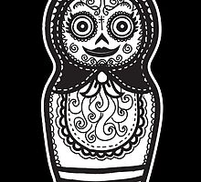 Day of the Dead Russian Doll by wottoart