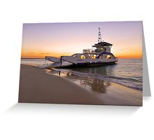 Vehicular Ferry from Inskip Point to Fraser Island. Queensland, Australia. Greeting Card