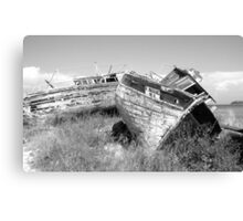 Old and Rustic Boats Canvas Print