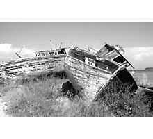 Old and Rustic Boats Photographic Print