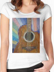 Guitar Sunshine Women's Fitted Scoop T-Shirt