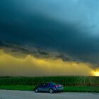 Ominous Clouds Over Corn Field  by Christopher Hanke
