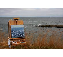 en plein air in gray Photographic Print