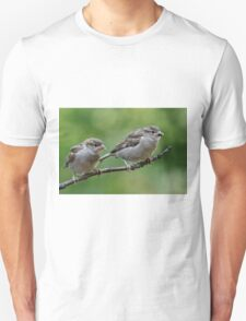Fledgling house sparrows Unisex T-Shirt