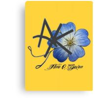 AK Don't Forget Me Canvas Print
