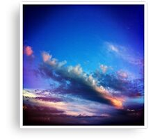 saturday sky Canvas Print