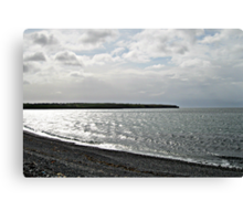 Awakening - Silvery Sea Canvas Print